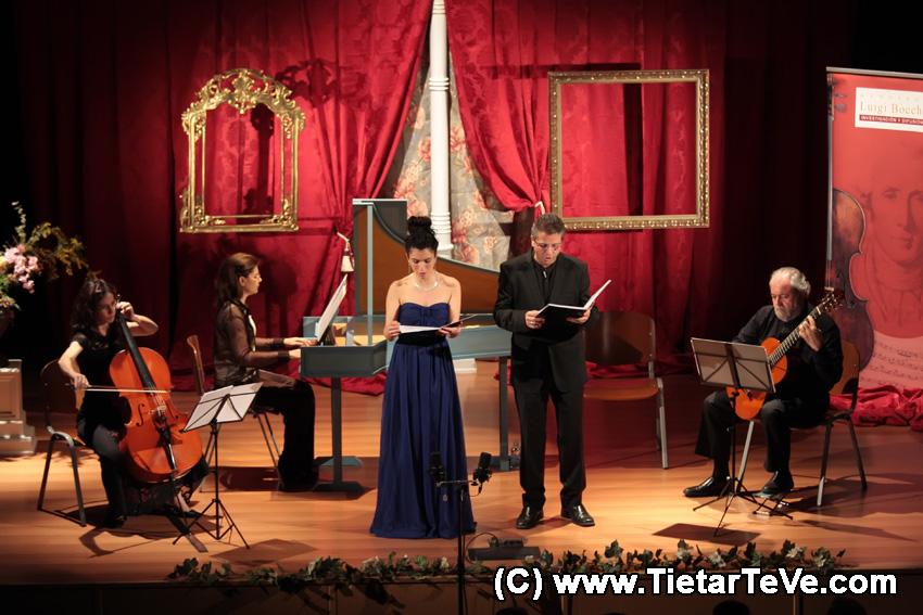 Verónica Masino (soprano), Miguel Ángel Navarro (tenor), Irene Mateos (violonchelo), Isabel Lozano (clave), Miguel Ángel Jiménez (Guitarra).
