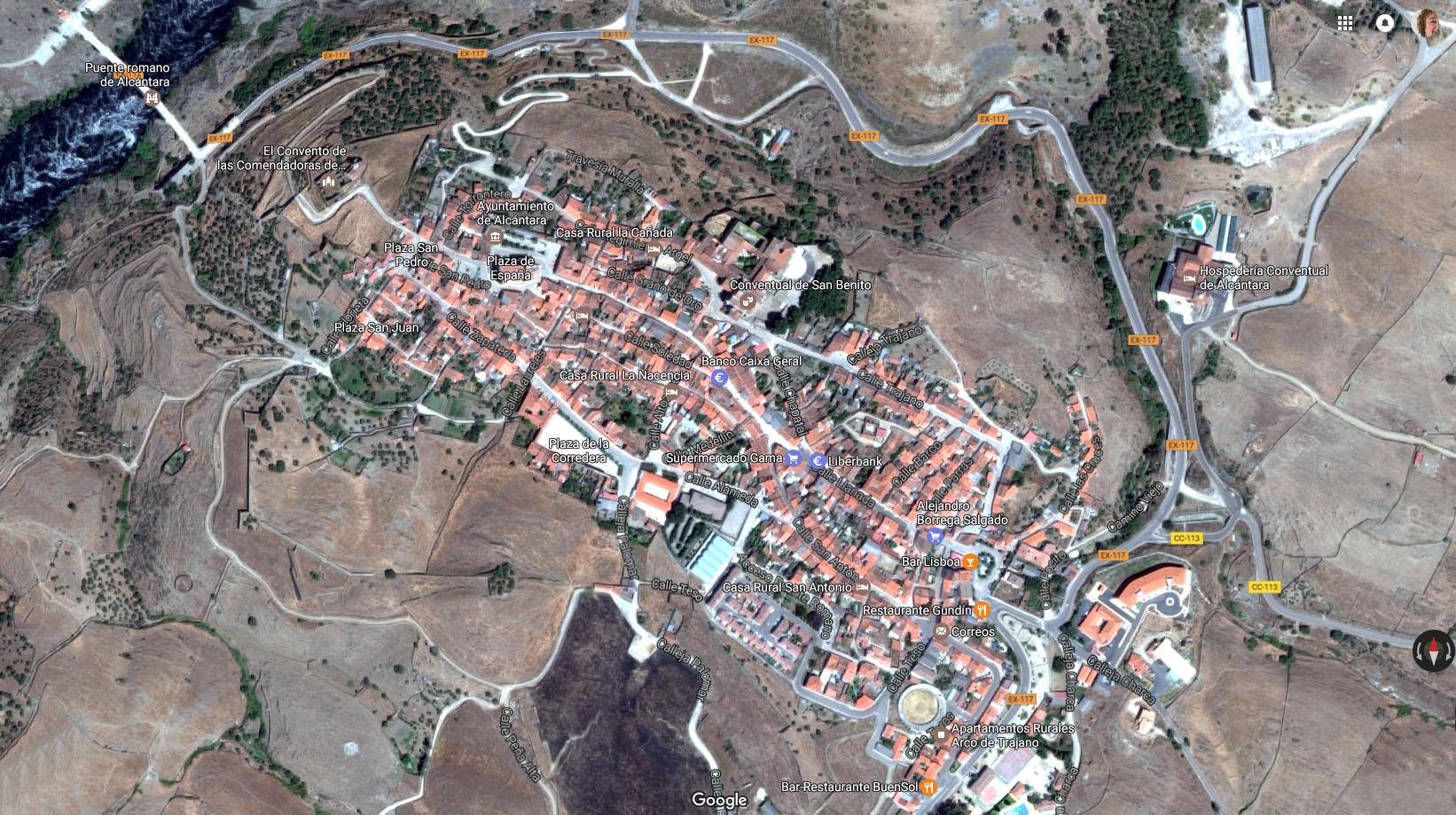 Alcántara (Cáceres) - Vista aérea