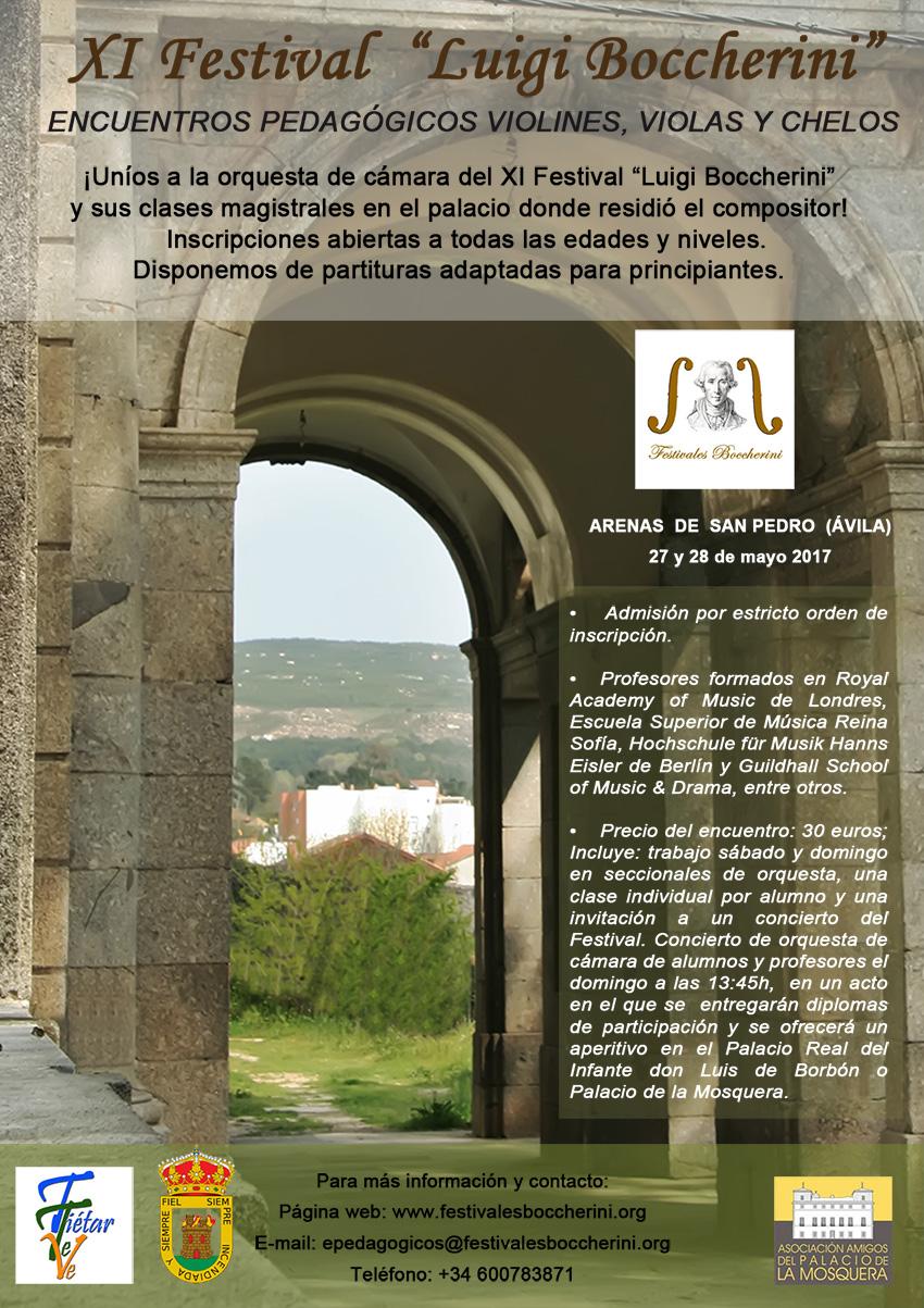 Cartel Encuentros Pedagogicos XI Festival Boccherini