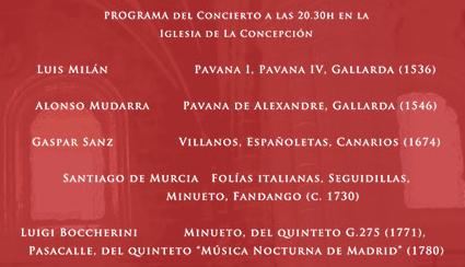Programa V Actividad Musical Alcántara con Boccherini