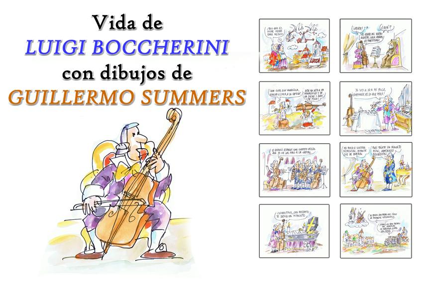Vida de Boccherini con dibujos de Guillermo Summers