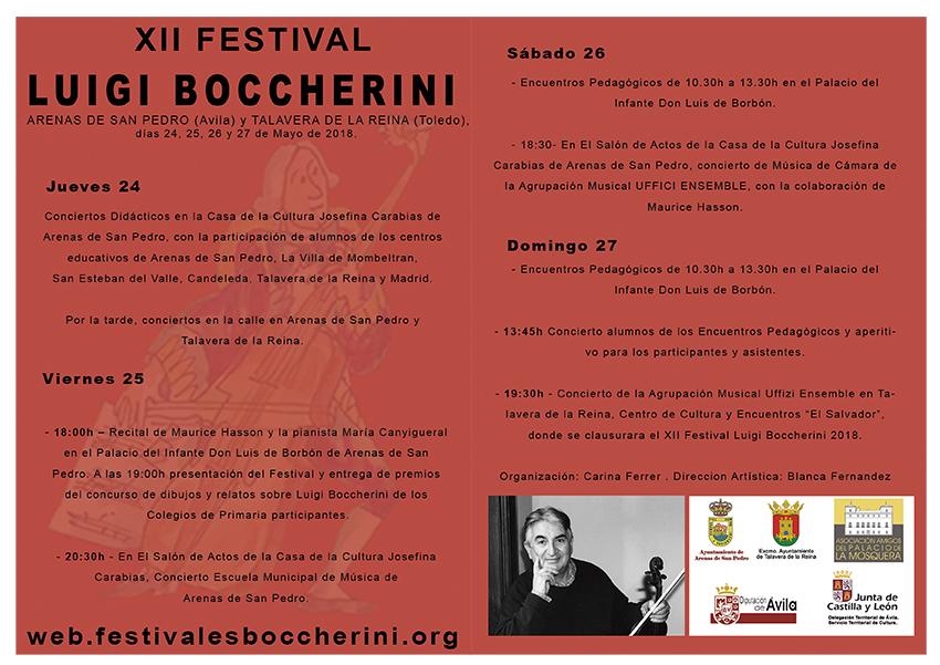 XII Festival Luigi Boccherini - Programa Inicial 2018