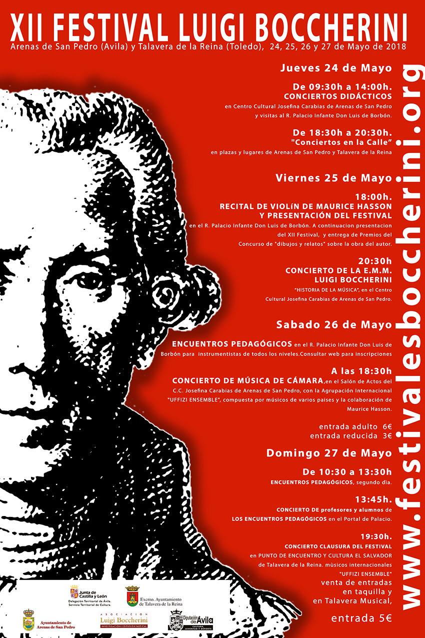 XII Festival Boccherini 2018 Arenas de San Pedro y Talavera de La Reina