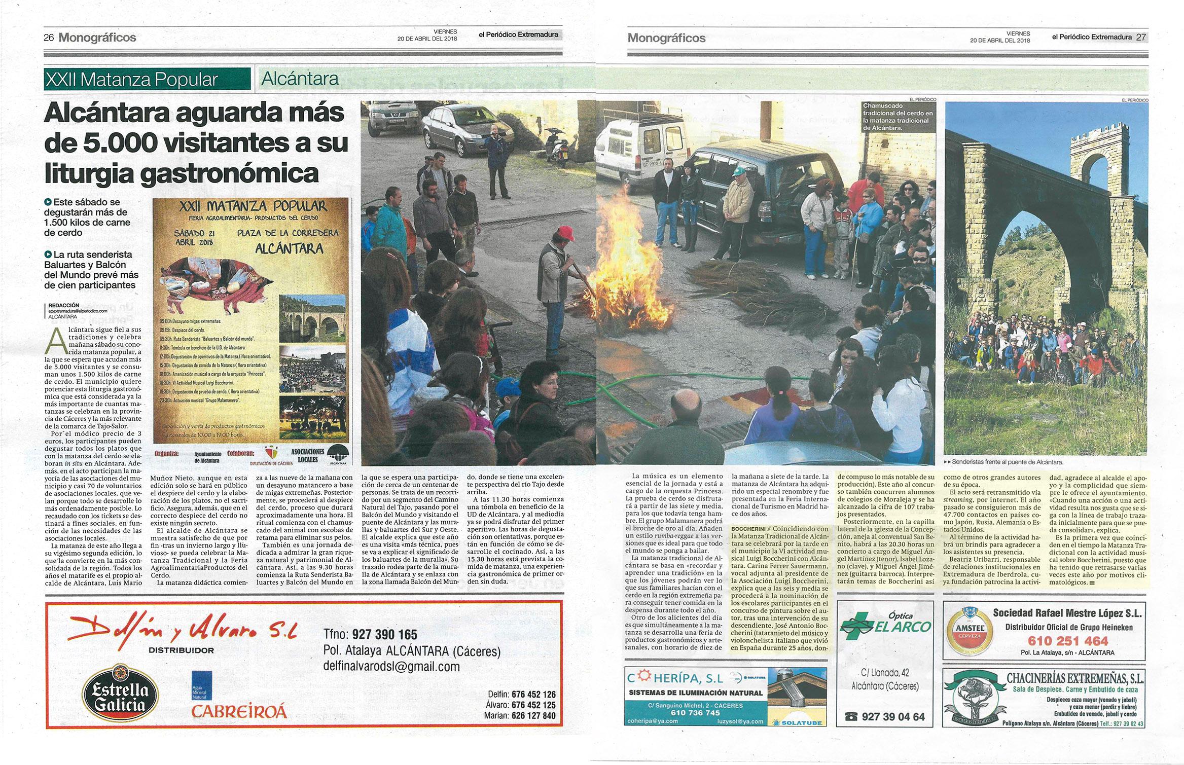 Noticia Periodico Extremadura - Festivales Boccherini