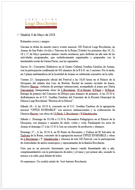 Carta ALB - XII FLB