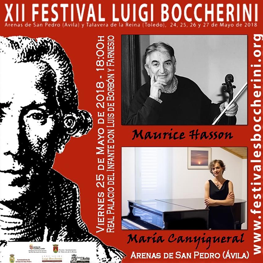 Maurice Hasson y María Canyigueral - XII Festival Boccherini 2018 Arenas de San Pedro y Talavera de La Reina