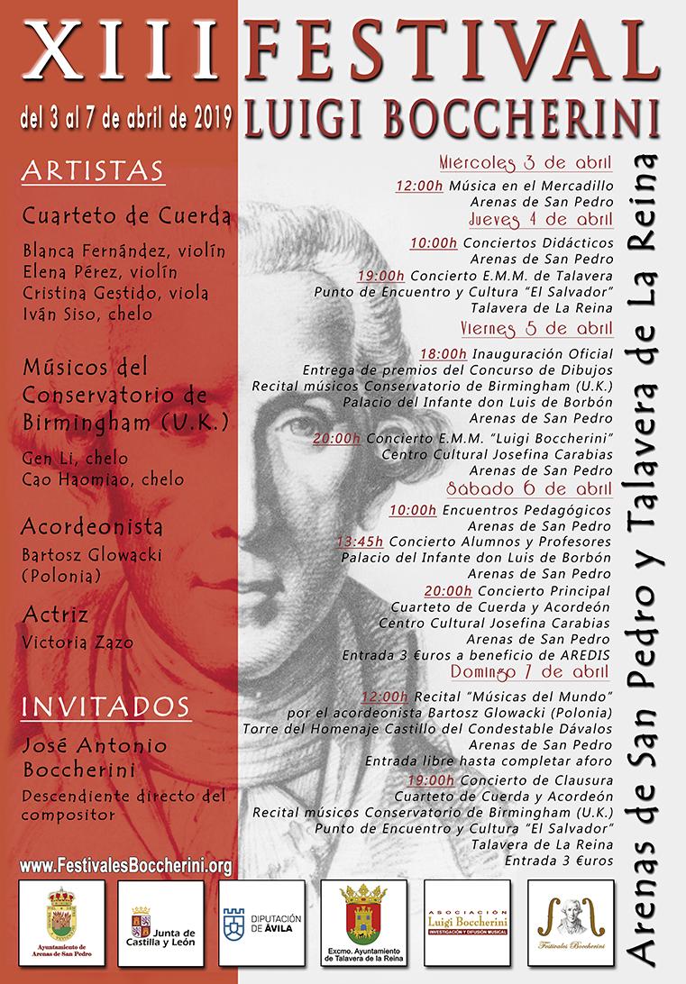 Cartel XIII FLB 2019 - Festivales Boccherini