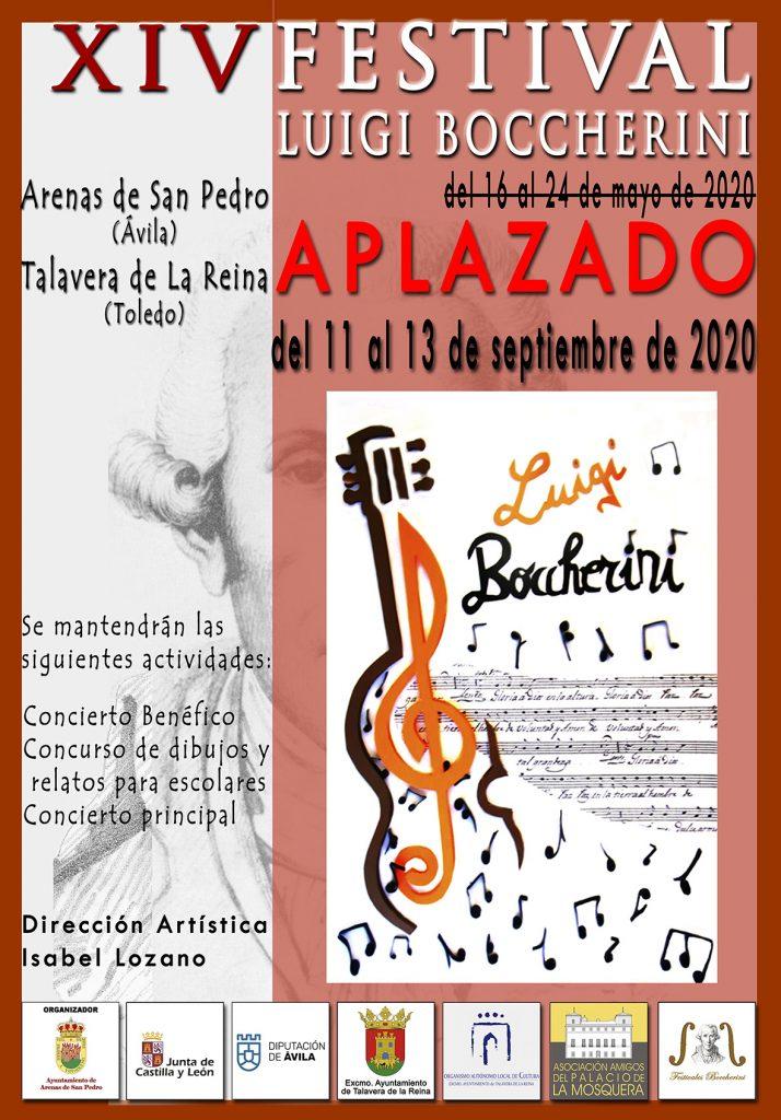 APLAZADO el XIV Festival Luigi Boccherini de Arenas de San Pedro