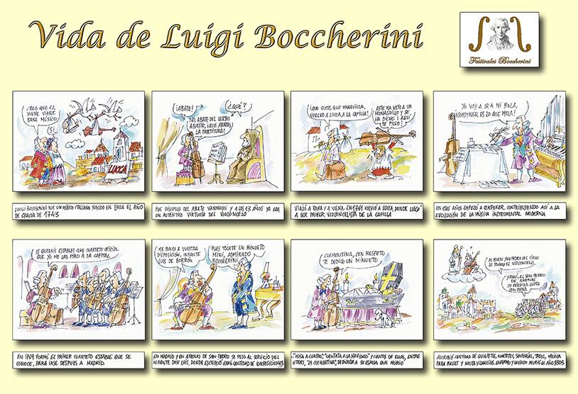 Láminas de Guillermo Summers sobre Luigi Boccherini