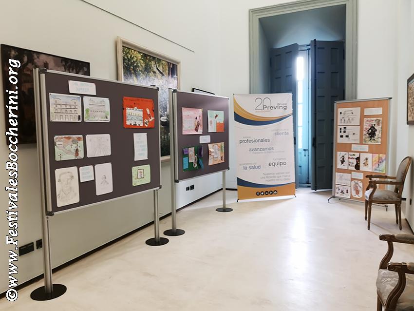 Dibujos ganadores del concurso entre escolares en el XIV Festival Boccherini