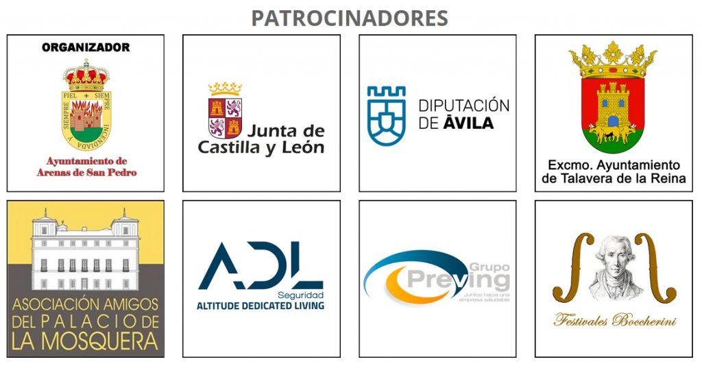 Patrocinadores del XIV Festival Boccherini de Arenas de San Pedro y Talavera de La Reina
